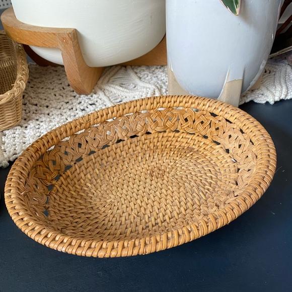 Vintage Basket Rattan